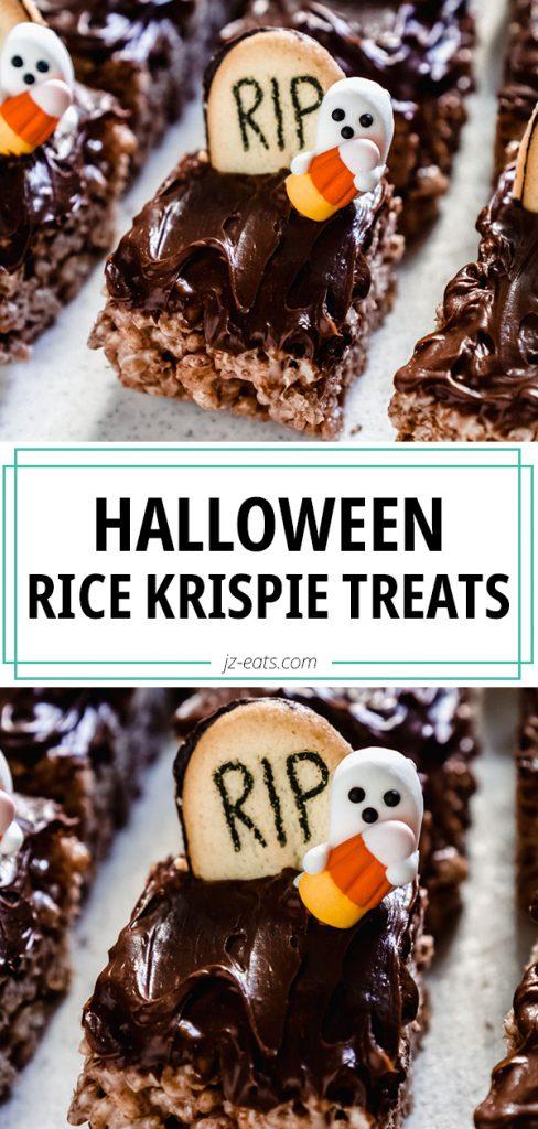 chocolate rice krispie treats pin