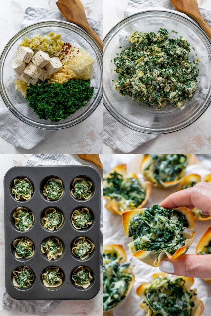 steps to make spinach and artichoke dip