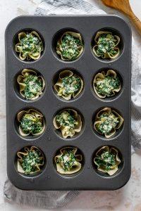 dip cups in a muffin tin