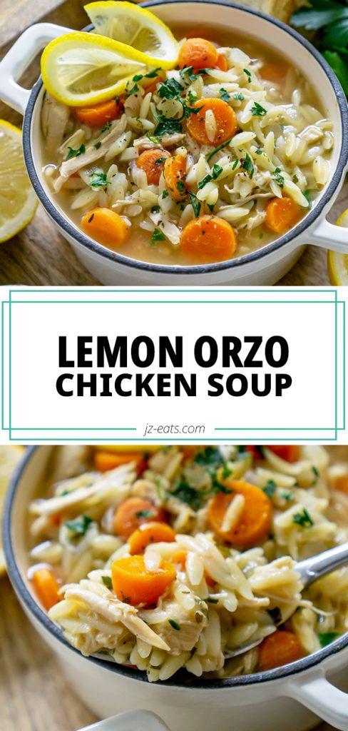 lemon orzo chicken soup pin