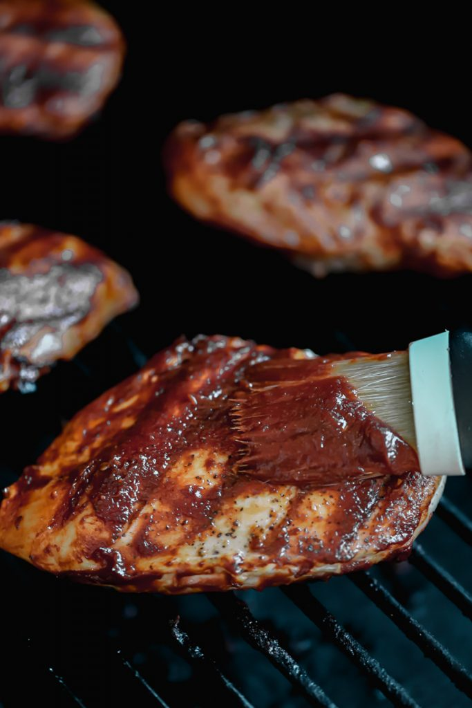 basting chicken with bbq sauce