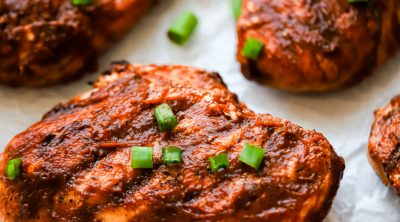 grilled bbq chicken with bbq sauce