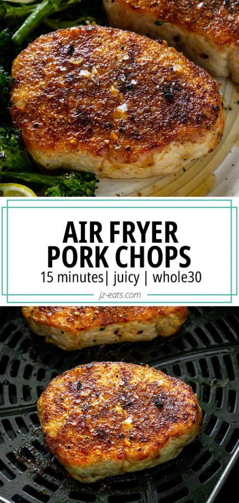 air fryer pork chops pinterest pin