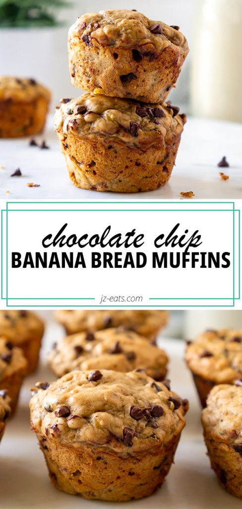 banana bread muffins pinterest pin