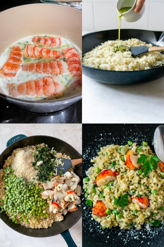 steps to making lobster risotto
