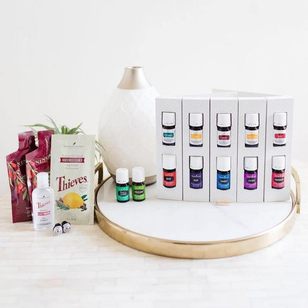 young living diffuser and essential oils