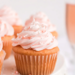 valentine's day cupcake with pink frosting