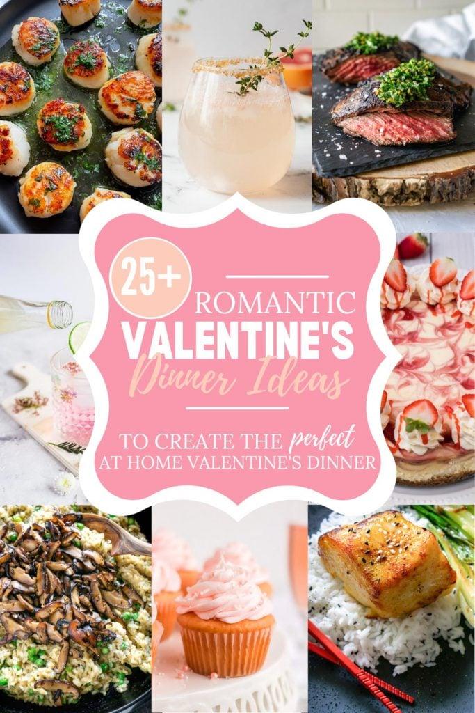 valentine's day dinner ideas pin