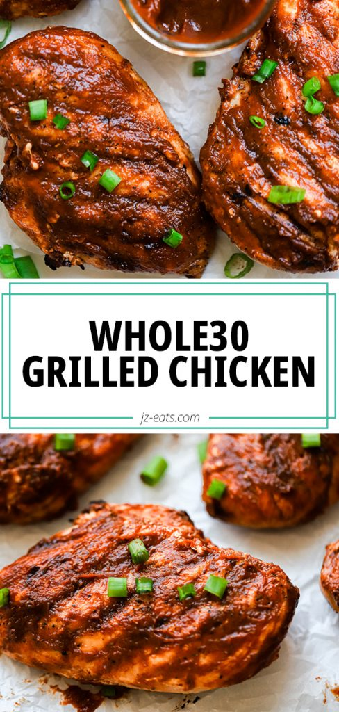 whole30 bbq grilled chicken pin
