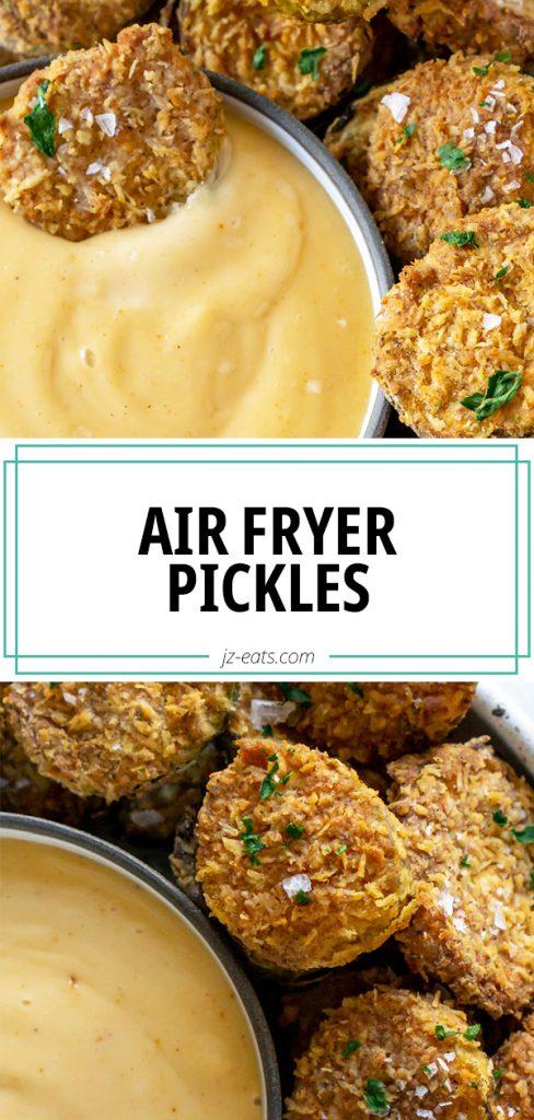 air fryer pickles pinterest pin