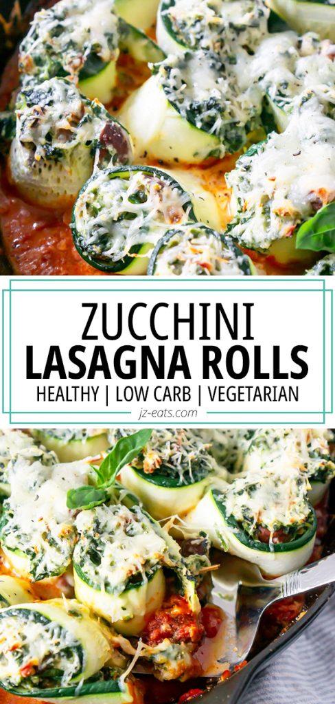 zucchini lasagna rolls pinterest pin