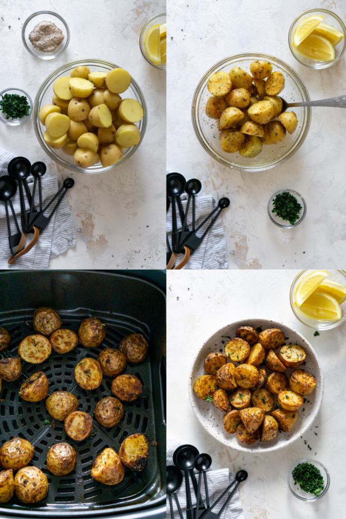 steps for making air fryer potatoes