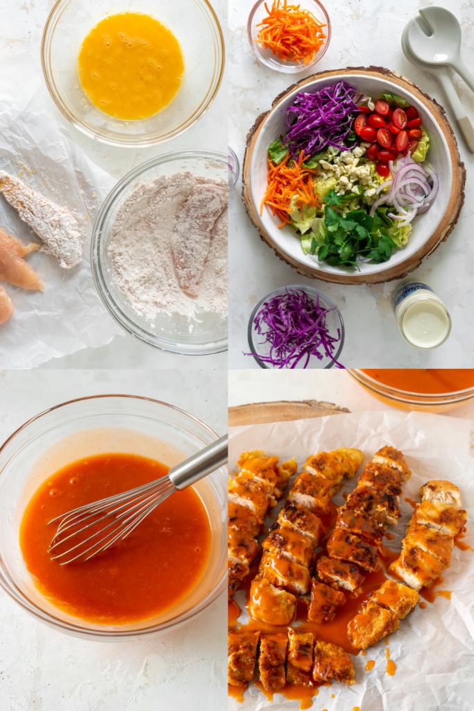 steps to make buffalo chicken salad