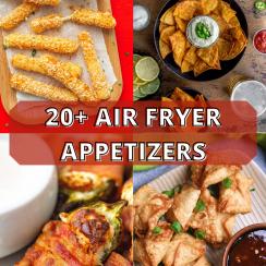 air fryer appetizers pin