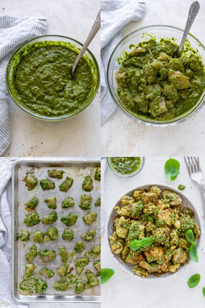 steps to make basil pesto chicken