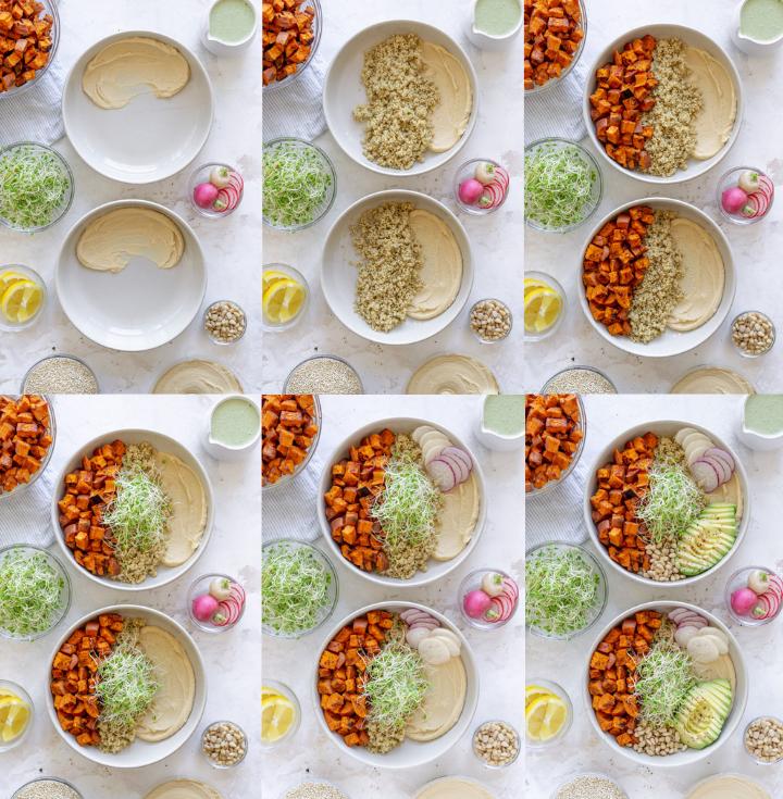 steps to make sweet potato bowls