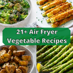 air fryer vegetables pin