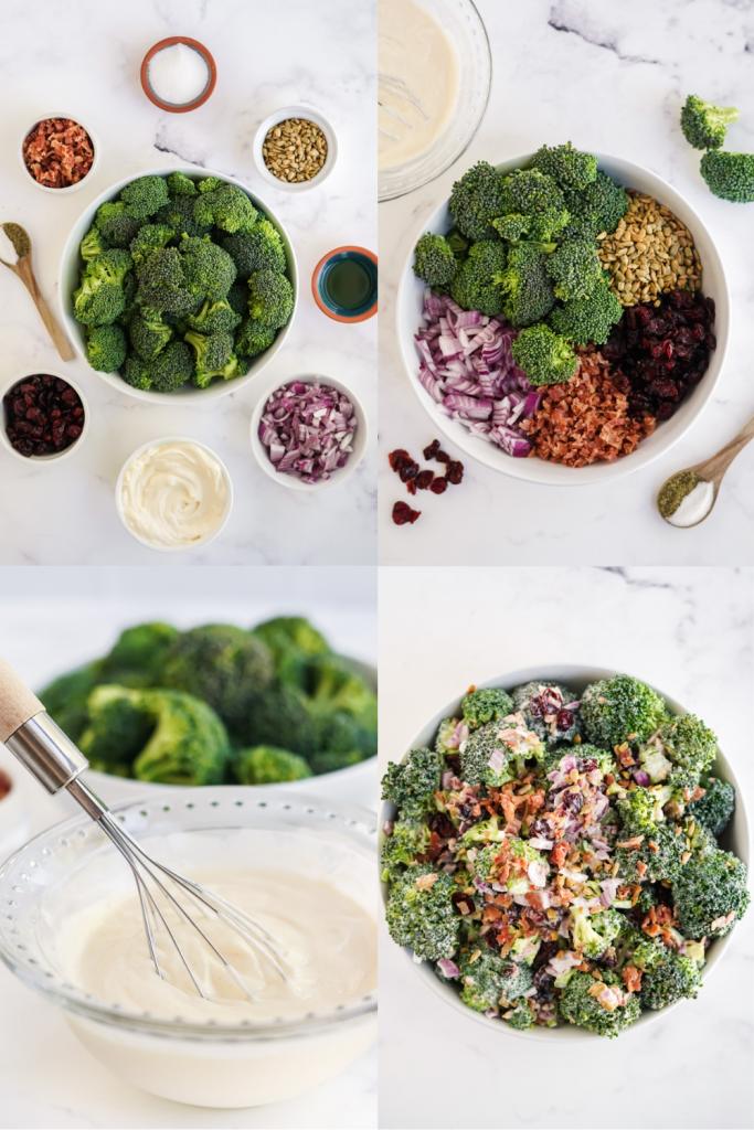 steps to make broccoli salad