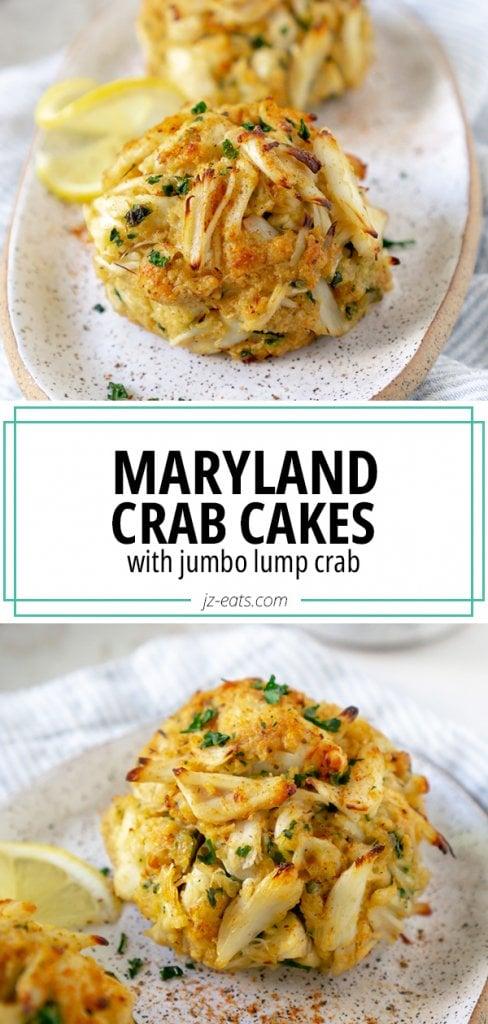maryland crab cake recipe pin