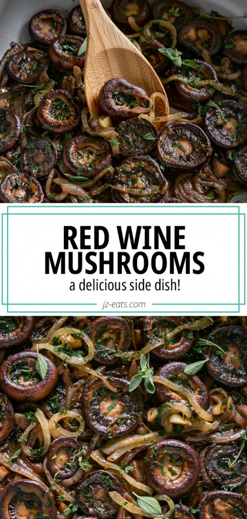 red wine mushrooms pinterest pin
