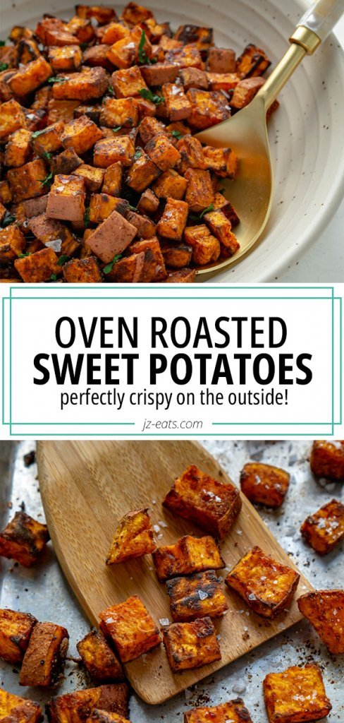 roasted sweet potatoes pin