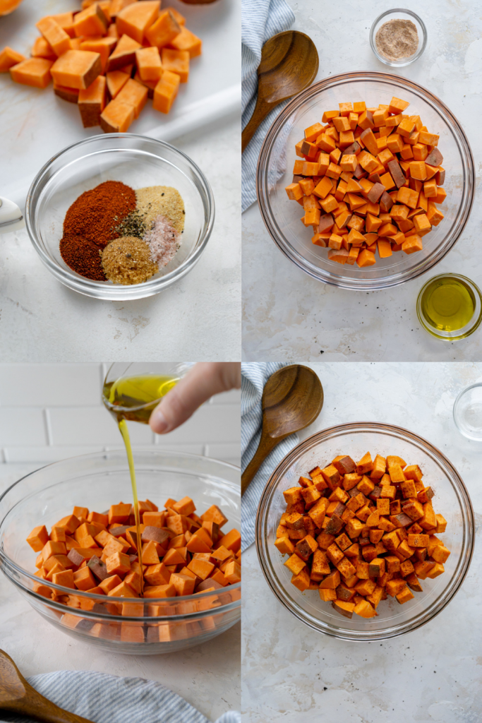 how to make roasted sweet potatoes