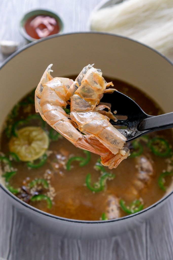removing shells from soup