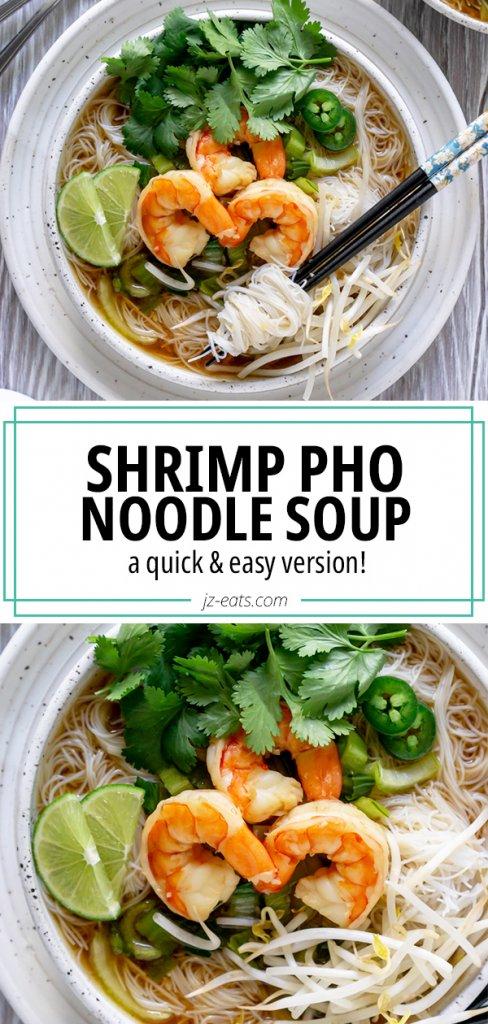 shrimp pho pinterest pin