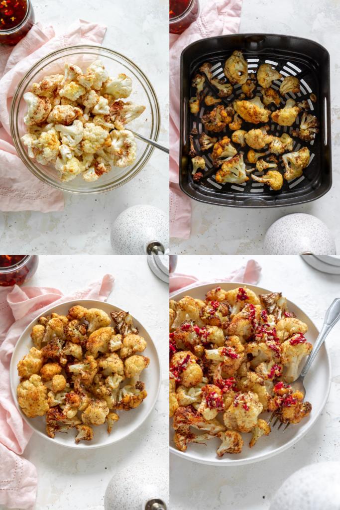 steps to make air fryer cauliflower