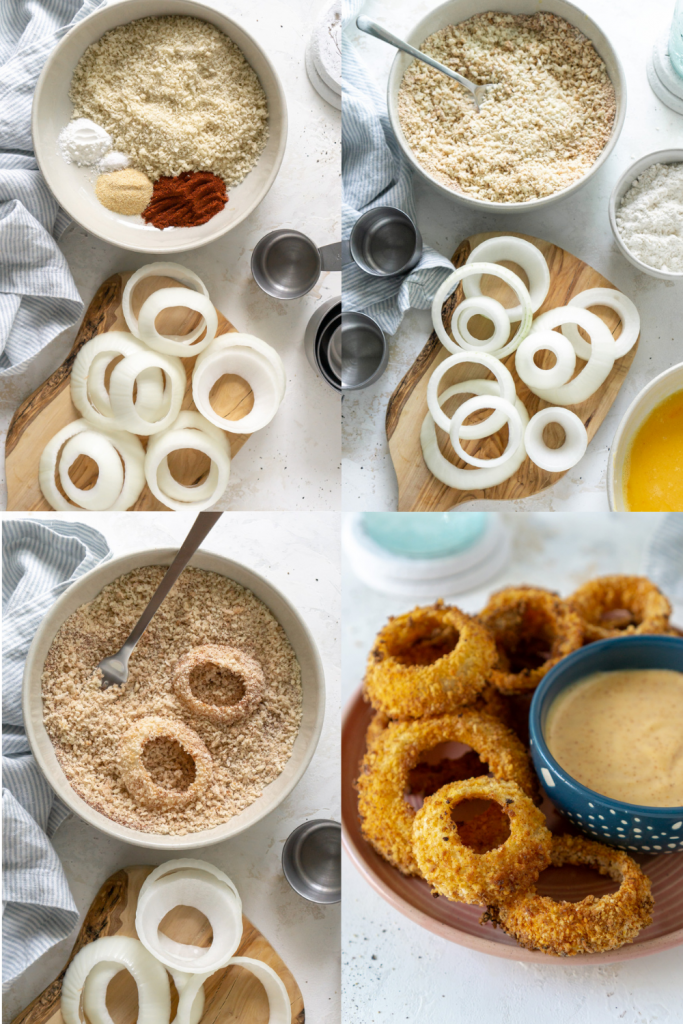 how to make air fryer onion rings
