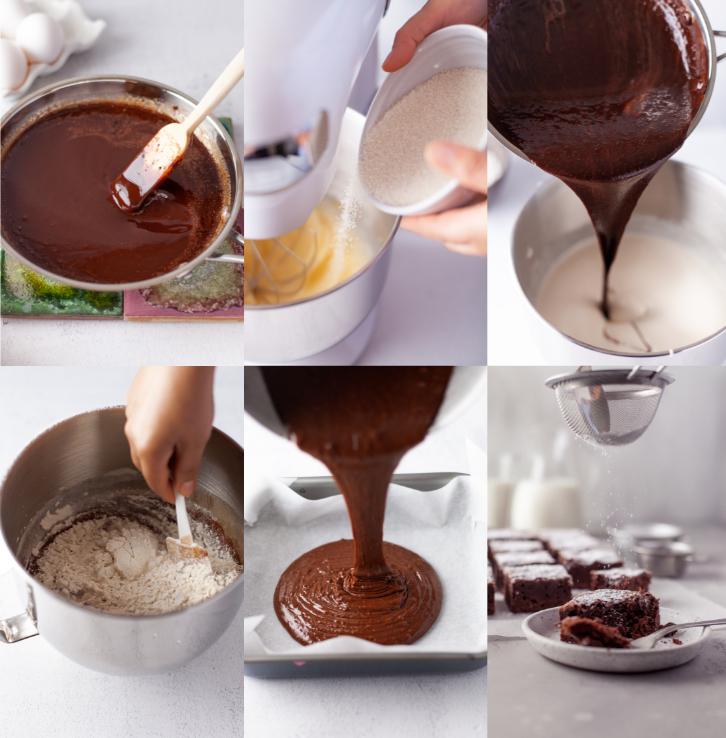 how to make dark chocolate brownies