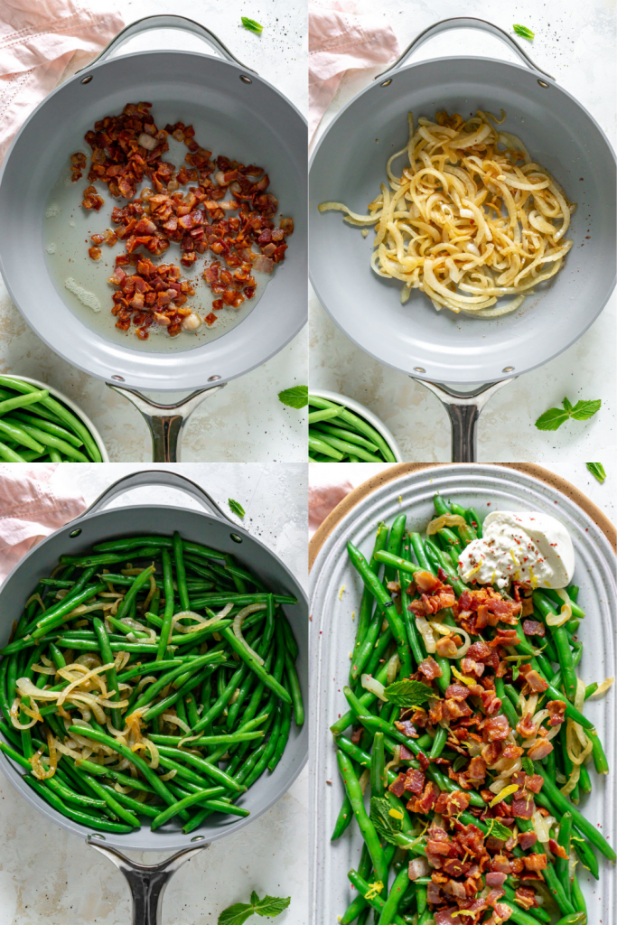 steps to make green beans with bacon