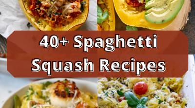 spaghetti squash recipes pin