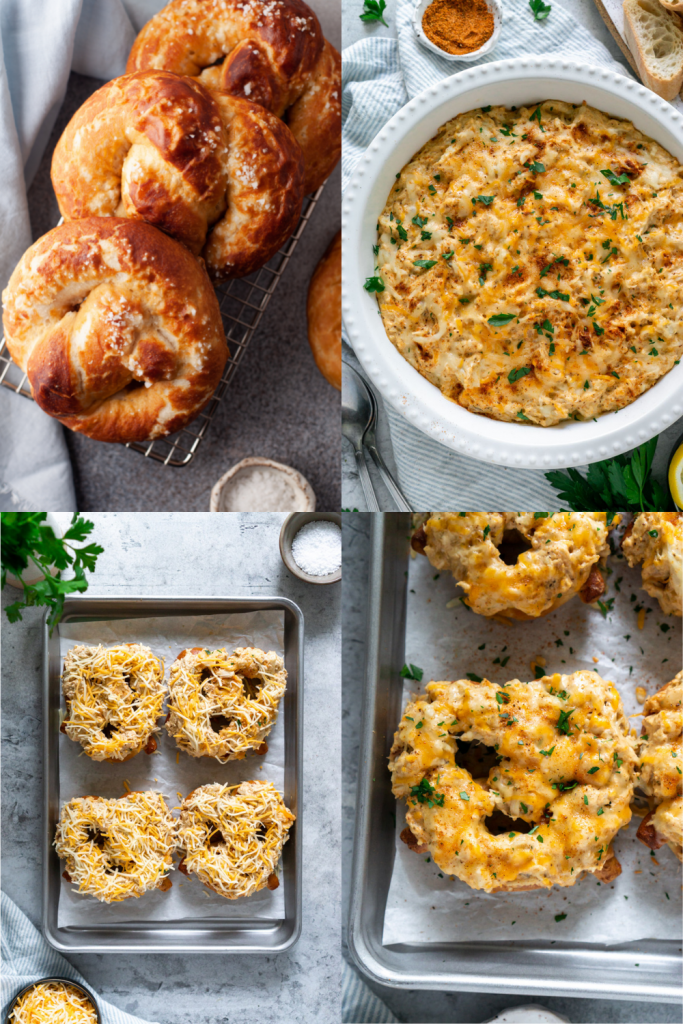how to make crab pretzels step by step