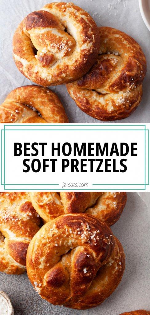 homemade soft pretzels pinterest pin