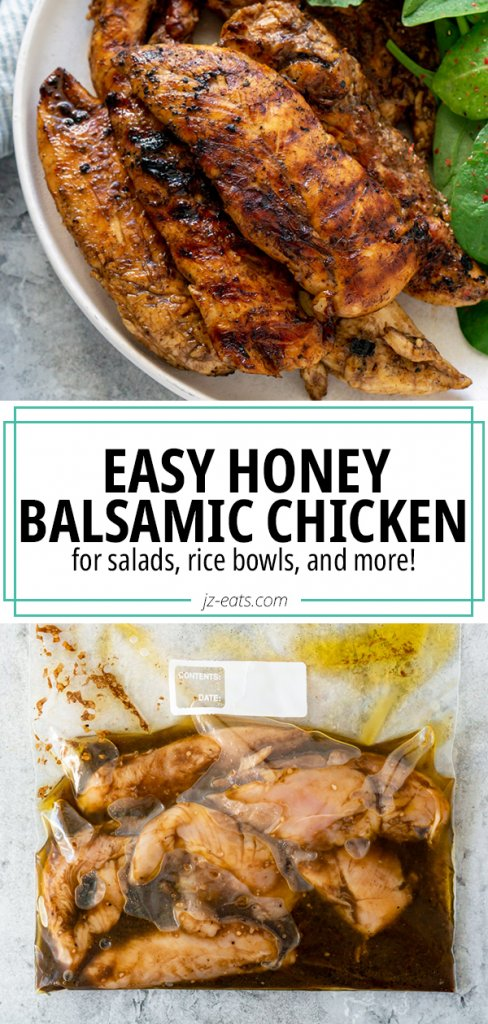 honey balsamic chicken pinterest pin