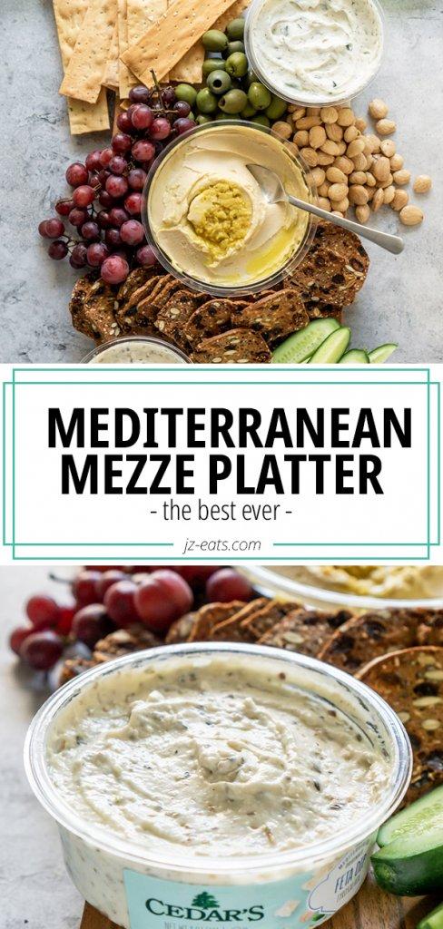 mezze platter pinterest pin