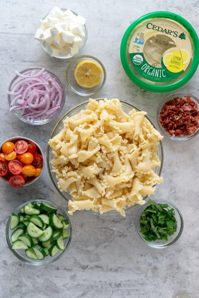 gluten free pasta salad ingredients