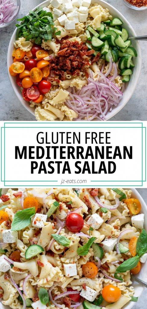gluten free pasta salad pinterest pin