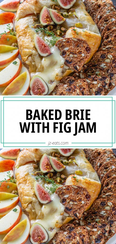 baked brie recipe pinterest pin