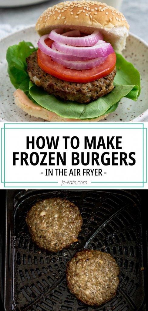 frozen burger recipe pinterest pin
