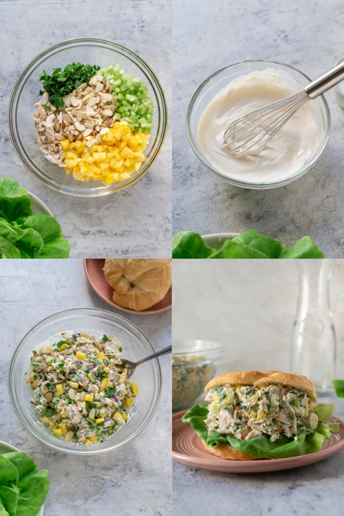 steps to make pineapple chicken salad