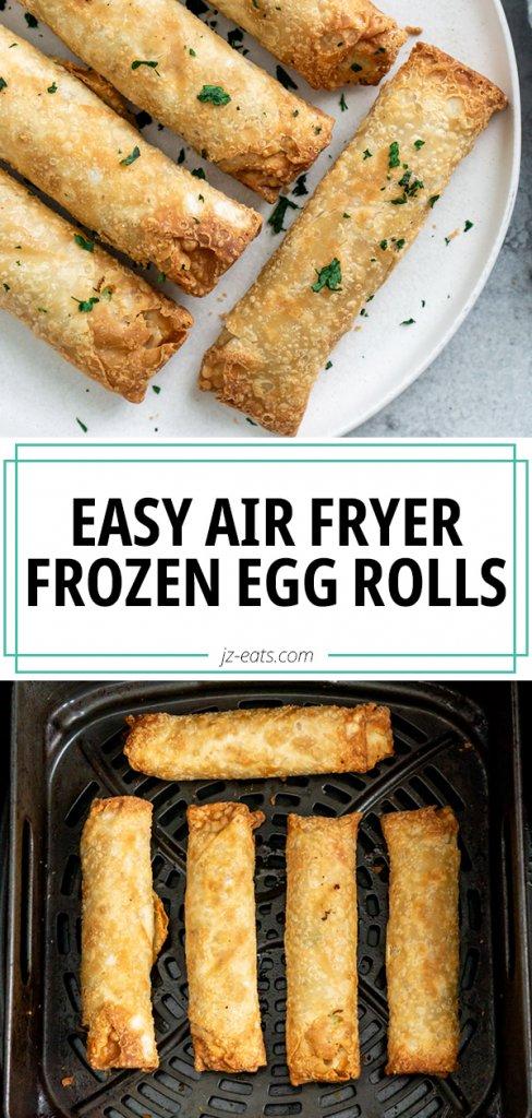 air fryer frozen egg rolls pinterest pin