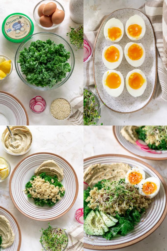 how to make hummus bowls